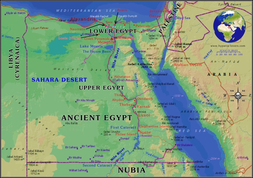 Geography & Location - Schmidt Ancient Egypt